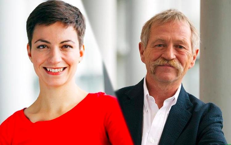 "Franziska (Ska) Keller and José Bové : finally a ""team"" at the head of a European list for the next EParliament elections ."